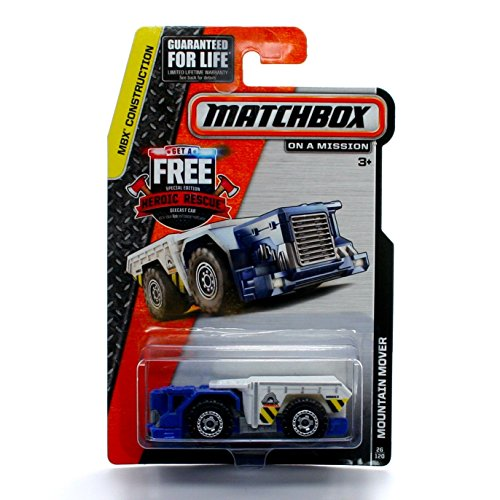 MOUNTAIN MOVER (Blue) * MBX CONSTRUCTION * 2014 Matchbox Basic Die-Cast Vehicle (#26 of 120) - Mbx Mover