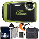 Fujifilm FinePix XP130 Waterproof Digital Camera 2018 Version (Lime Green) Bundle with 32GB Memory Card - International Version with 1 year Seller Warranty