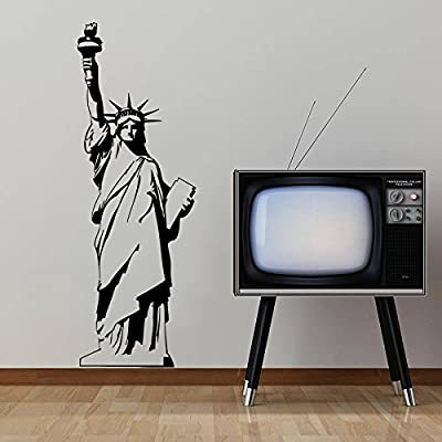 Wall Decals Statue Of Liberty New York Travel Fashion Office Dorm Decor Living Room Wall Vinyl Decal Stickers Bedroom Murals