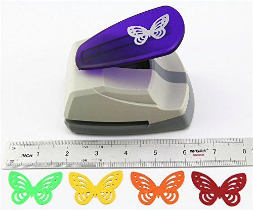 TECH-P Creative Life Crafts Engraving Hole Punch 2-Inch -DIY Paper Punch for Card Scrapbooking Craft Punch Embossing Border School Supplies. (Butterfly-2) Photo #5