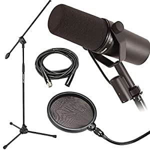shure sm7b dynamic vocal mic w mic boom stand pop filter 20 39 xlr cable musical. Black Bedroom Furniture Sets. Home Design Ideas