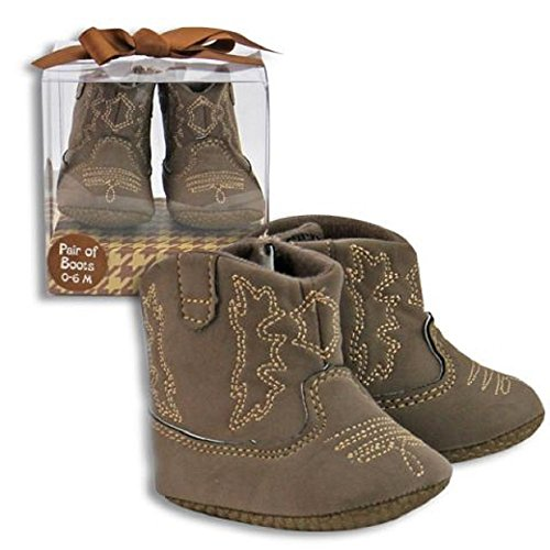 Unisex Boy or Girl Baby Cowboy Boots Brown