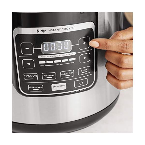 Ninja Instant, 1000-Watt Pressure, Slow, Multi Cooker, and Steamer with 6-Quart Ceramic Coated Pot & Steam Rack (PC101… 3