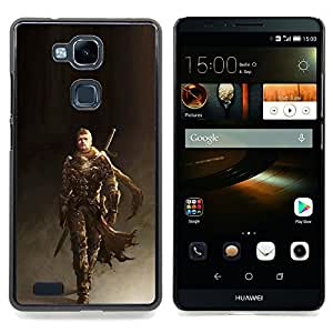 - Superhero Warrior Man Sword Gaming Art - - Snap-On Rugged Hard Cover Case Funny HouseFOR HUAWEI Ascend Mate 7