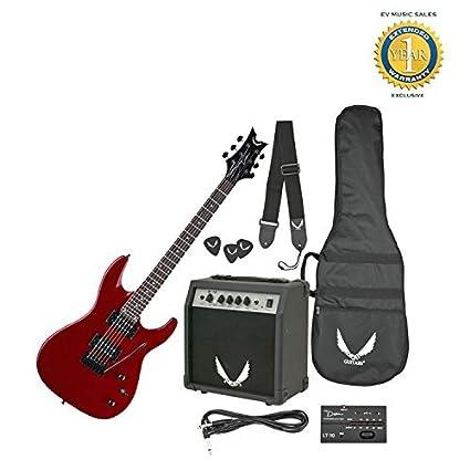 Dean Guitars Vendetta XMT Pack de guitarra eléctrica con amplificador Rojo Metálico Con Libre de 1