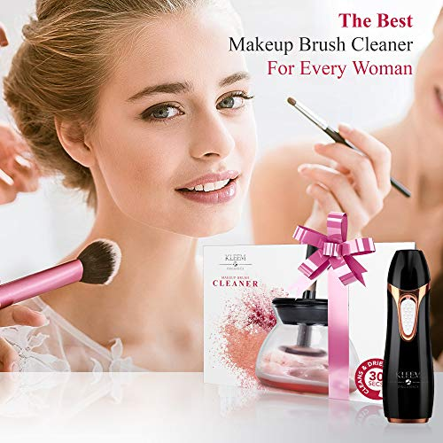 Electric Makeup Brush Cleaner & Dryer Machine for all Size Makeup Brushes from Eyeshadow Brush to Makeup Powder Brush-Professional Makeup Brush Cleaning Tool to Fast Clean & Dry Makeup Brushes in Secs