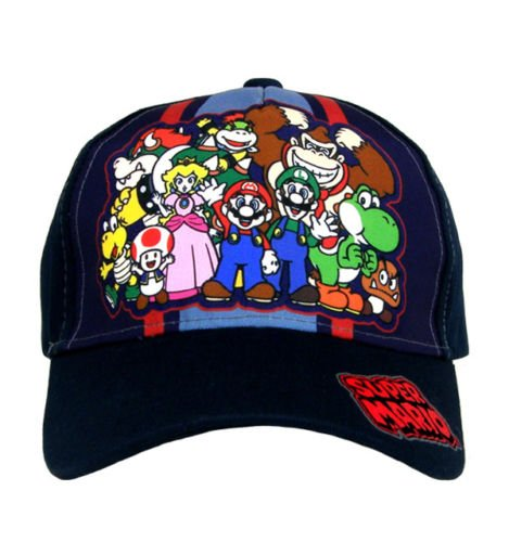 Mario Hats For Sale (Super Mario Boys Baseball Cap Hat)