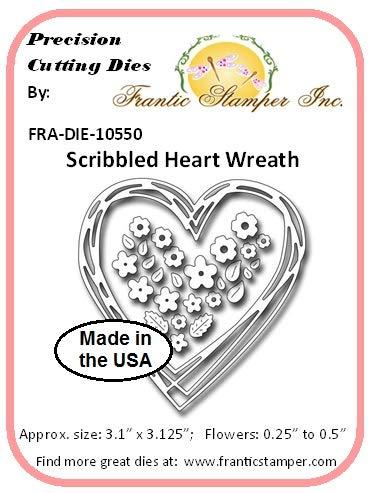 (Frantic Stamper Scribbled Heart Wreath Die (Metal die for Cutting Paper))