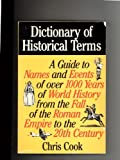 Dictionary of Historical Terms, , 0872262413