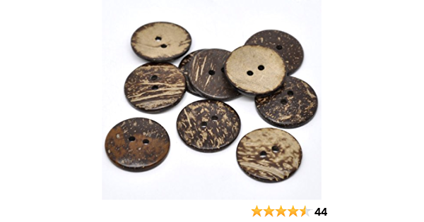 20pcs Large 56mm Scrapbooking Sewing DIY overcoat hat Nature coconut buttons