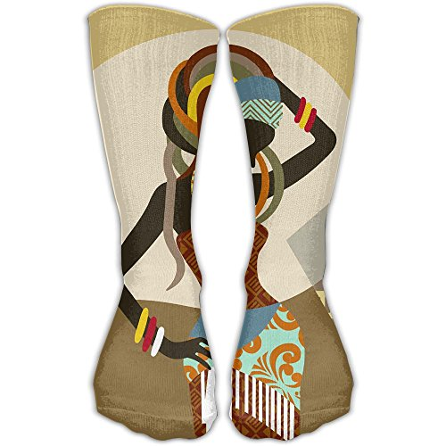Women's Men's Classics Socks African Art Women Athletic Stockings 30cm Long Sock One Size