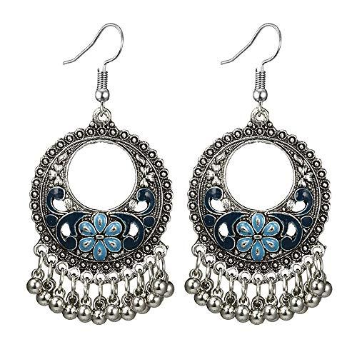 Molyveva Chandelier Earrings Womens Bohemia Classical Fringed Drop Tassels Hook Dangle Indian Earrings ()