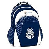 EXCLUSIV* Real Madrid Mochila Escolar Mochila Grande Ronaldo Mochila Sport ergonomica azul
