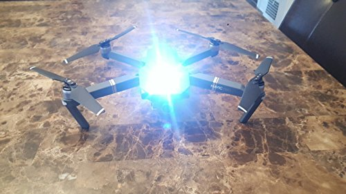 High Intensity BLUE Cree LED Strobe Light for Drones FAA 107 Compliant for Night Flights Fits All Multirotor Quadcopter DJI Inspire Phantom Mavic RC Aircraft YuneecTyphoon H Q500