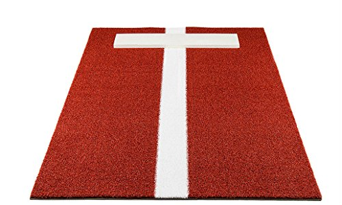 Pro-Ball Softball Pitching Mat with Power LIne, Clay - 3 feet x 9 feet by Unknown