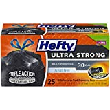 Hefty Ultra Strong Multipurpose Large Black Trash Bags - 30 Gallon, 6 Packages of 25 Bags (150 Total)