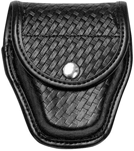 Snap Brass Double (Bianchi AccuMold Elite Brass Snap 7917 Double Cuff Case (Plain Black))