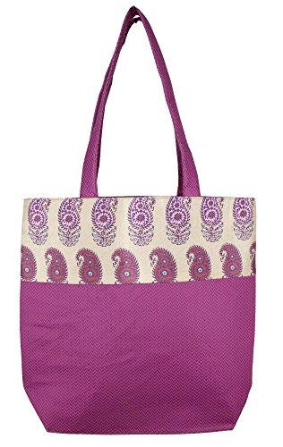 ShalinIndia, Borsa tote donna multicolore Multi