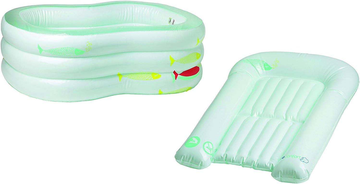 Bebe Confort - Bañera de bebé hinchable, convertible en cambiador ...