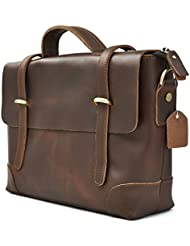 Briefcase Leather Messenger Bags Laptop Bag Gift Men Women