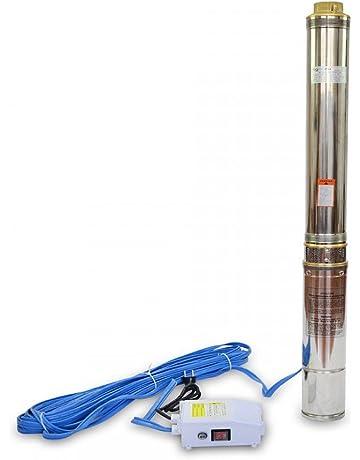 Bomba de agua para Pozo 1100W Sumergible 120m de Profundidad 5,8m3/h 16
