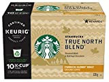 Starbucks True North Blend K-Cup, Light Roast Coffee (60/6x10 count Kcups)