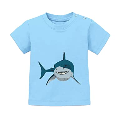 8476881f Shirtcity Angry Shark Baby T-Shirt: Amazon.co.uk: Clothing