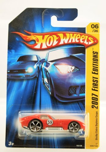 Hot Wheels - 2007 First Editions - Shelby Cobra Daytona Coupe - Bright Red - 06/36 - Limited Edition - (Shelby Cobra Daytona Coupe)