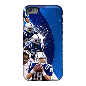 Scratch Resistant Hard Phone Cases For Apple Iphone 6 Plus With Unique Design Fashion Indianapolis Colts Pattern LauraFuchs