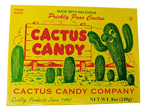 - Cactus Candy Company 1/2 LB Box Arizona Prickly Pear Cactus Candy