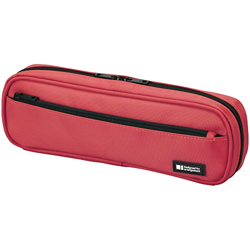 LIHIT LAB Pen Case, 9.4 x 1.8 x 3 inches, Coral