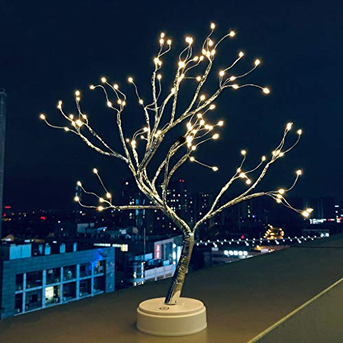 (Tpingfe USB Pearl Decorative Led Shimmer Tree Desk Lamp Touch Switch Led Light for Home Bedroom Indoor Wedding Party Decoration )