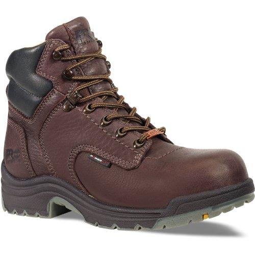 Timberland Pro Mens 53536 Titan 6  Waterproof Soft Toe Boot Brown 8 M