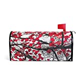 WOOR Red Fall Leaves Magnetic Mailbox Cover Oversized-20.8''x 25.5''