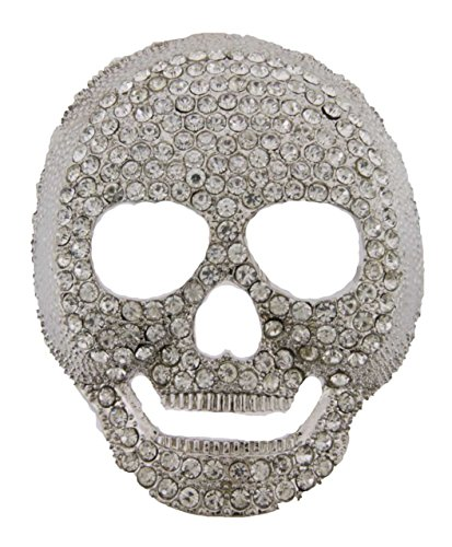 Skull Skeleton Belt Buckle Jim Jones Halloween Costume Gothic Tattoo Tribal Hip