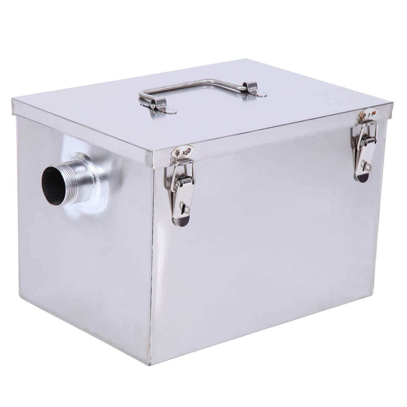 XuanYue Commercial Grease Trap 8 LB 5 GPM Gallon per Minute Stainless Steel Grease Interceptor Kitchen Kit for Restaurant Factory and Home