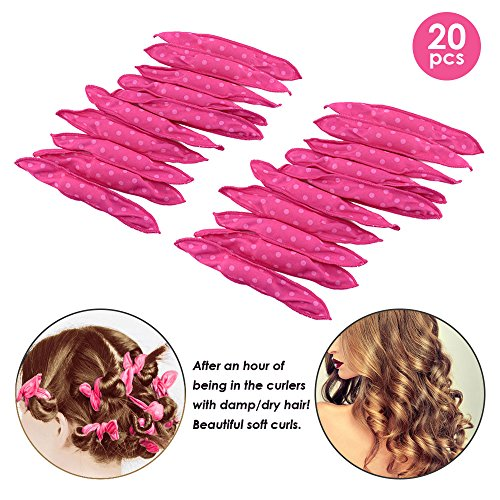 le Foam Sponge Hair Curlers, No Heat Hair Curlers Magic Pillow Soft Rollers Spiral Curls Set Hair Care DIY Styling Tools Comfy to Sleep on (pillow Rollers) (Soft Curler)