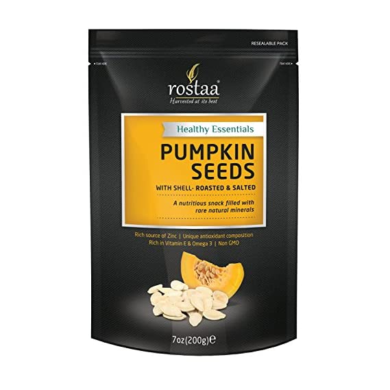 Rostaa Pumpkin Seeds with Shell, 200gm
