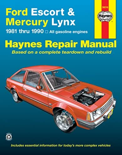 Ford escort & mercury lynx, 1981 through 1990 all gasoline on ford lynx wiring diagram Mammoth Wiring Diagram Ford Trim Diagrams