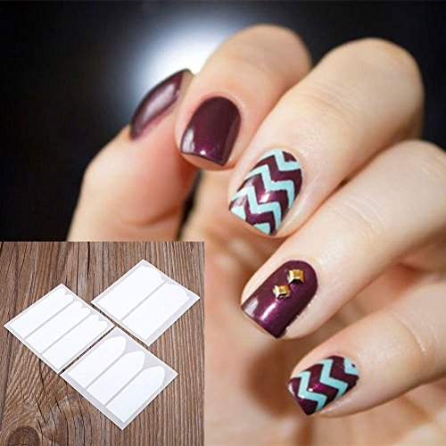 MSmask Manicure Form Stickers Fashion 18 Sheets DIY French Nail Art Tips Tape Guide Stencil Manicure Form Stickers