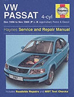 vw passat 4 cyl petrol diesel dec 96 nov 00 p to x haynes rh amazon com 2000 vw passat service manual pdf 2000 passat service manual
