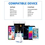 PICILOO-Caricatore-USB-da-Muro-2-Pack-21A-5V-Caricabatterie-Alimentatore-Presa-USB-2-Porte-Spina-Compatibile-con-iPhone-11-XS-Max-XR-X-8-7-6-Samsung-Huawei-Xiaomi-Android