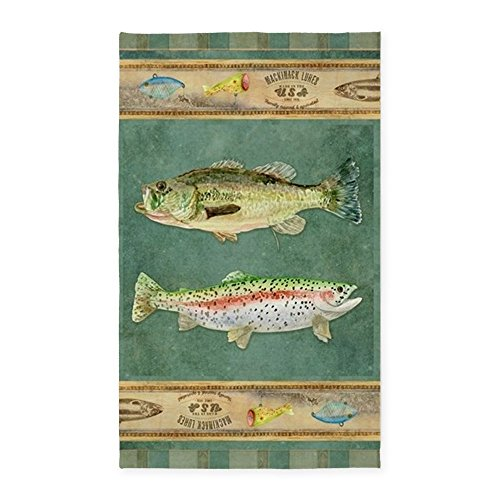 CafePress Fishing Cabin Decorative Fabric