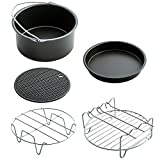 Aolvo Air Fryer Accessories for Gowise Phillips and Cozyna or More Brand,Air Fryer Accessories Kit of 7 Fit For 3.5QT