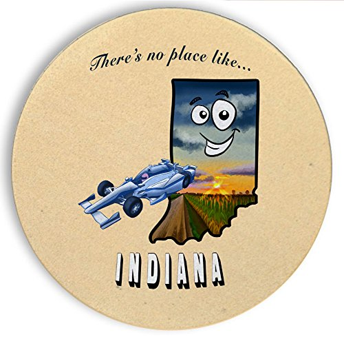 Taylor Wood Bar Table (Ceramic Stone Coaster Coasters Set of Four - There's No Place Like Indiana)