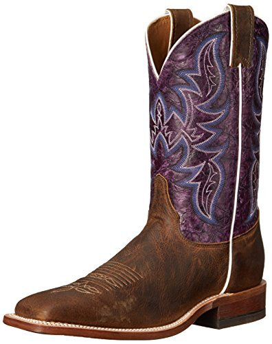 "Justin Men's 11"" Bent Rail Riding Boot - Hazel Brown/Grap..."