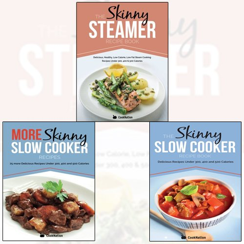 Price comparison product image Skinny Slow Cooker Recipe Book Collection 3 Books Set With The Perfect Gift Journal Specially for You