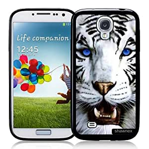 Cool Painting Galaxy S4 Case - S IV Case - Shawnex Bengal Tiger Blue Eyed Royal White Samsung Galaxy i9500 Case Snap On Case