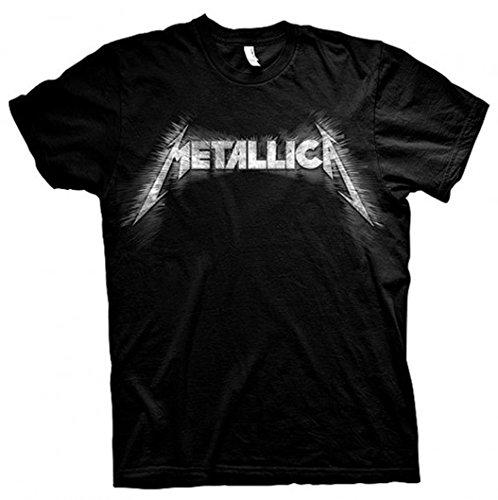 Metallica Logo with Rear Print James Hetfield Official Tee T-Shirt Mens Unisex ()