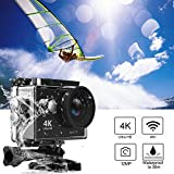 Action Camera, Greatever WIFI UHD 4K Action Camera Waterproof Diving Cam Underwater Camcorder Sport DV Car DVR 12M 170° Lens 2
